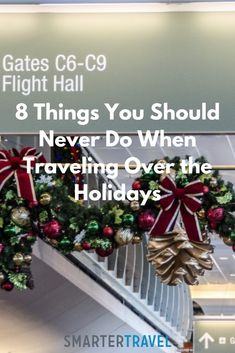 "Long lines. Backed-up highways. This may be billed as ""the most wonderful time of the year,"" but the stress of traveling over the holidays can turn anyone into a Grinch. Travel Essentials, Travel Tips, Christmas Travel, Free Travel, Stress Free, Holidays And Events, Grinch, Wonderful Time, Planes"