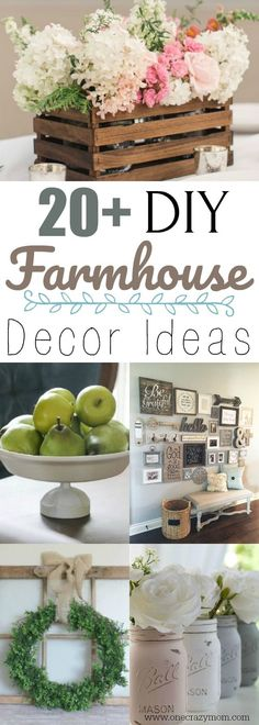 DIY Farmhouse Decor- 20 Easy DIY farmhouse decor Ideas Find 20 DIY Farmhouse Decor Ideas that are easy to make and won't bust your budget. From wall decor to furniture, 20 ideas you can make yourself. Farmhouse decor that is simple to make! Farmhouse Side Table, Country Farmhouse Decor, Farmhouse Design, Farmhouse Ideas, Modern Farmhouse, Vintage Farmhouse, Farmhouse Style, Cute Dorm Rooms, Cool Rooms