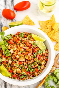 Grilled Shrimp Ceviche by @farmgirlsdabble. What a tasty snack! Gorgeous.