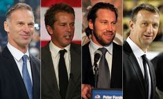 2014 Hockey Hall of Fame inductees are: Dominik Hasek, Peter Forsberg, Mike Modano, Rob Blake, Pat Burns and referee Bill McCreary. What a great class! Peter Forsberg, Mike Modano, Hockey Hall Of Fame, Arizona Coyotes, Season Ticket, Colorado Avalanche, National Hockey League, Referee, Hockey Players