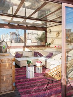 Art Symphony: Penthouse apartment in Barcelona Interior Exterior, Home Interior, Exterior Design, Outdoor Spaces, Outdoor Living, Outdoor Decor, Porch And Terrace, Acapulco Chair, Barcelona Apartment