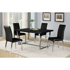 Shaker 5 Piece Dining Set, Black   Iu0027d Really Love Something Like This When  We Buy A New Dining Set. | For My Home (Haves/Wants) | Pinterest | Dining,  ...