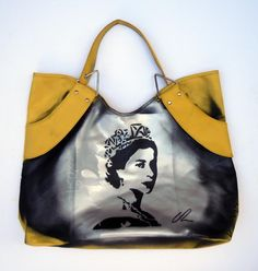 Bag Lady | Acrylic on Leather
