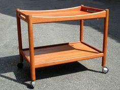 Orig-Hans-Wegner-Table-Bar-Cart-Tea-Trolley-Danish-Modern-Mid-century-Eames-Teak