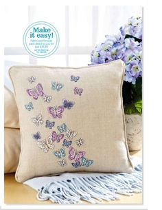 """Butterfly Cushion • Chart is pinned in """"Counted thread Embroideries ie Cross..."""""""