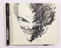 MOLESKINE DOODLES: Why so serious? by kerbyrosanes on deviantART