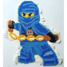 Lego Ninjago nabbi perler beads by mammaparlar