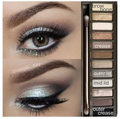 Glamorous silver smokey eye using Urban Decay Naked 2 palette. Great for prom or other formal occasions! Glamorous silver smokey eye using Urban Decay Naked 2 palette. Great for prom or other formal occasions! Kiss Makeup, Prom Makeup, Love Makeup, Wedding Makeup, Makeup Looks, Hair Makeup, Makeup Eyeshadow, Homecoming Makeup, Awesome Makeup