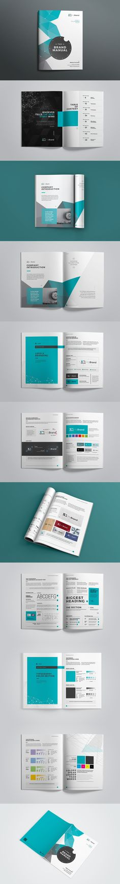 Professional & Creative Logo & Business Brand Manual Template INDD, IDML, EPS & PDF File Format - 46 Pages Professional fully Editable.