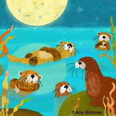 Red Fish Circle: New Otters  Amy Schimler