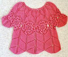 Oi amigas (os)!   Vejam que idéia legal para o verão...uma blusa em croche,   este modelo tbém pode ser feito pra criança:        GRAFICO 1...