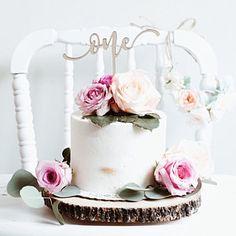 Birthday Cake Topper, Custom Birthday Cake Topper, Custom Name Cake Topper, DIY Cake Topper Birthday First Birthday Cake Topper, Custom Birthday Cakes, Happy Birthday Cakes, Girl First Birthday, First Birthday Parties, Birthday Ideas, Glitter Birthday Parties, White Birthday Cakes, Birthday Cake With Flowers
