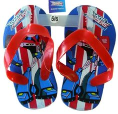 9b8948e348b0cb Transformers childrens sandals Transformers flip flops Boy Size Red Color  size 56    Click image