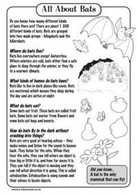 All About Bats...and all kinds of other free printables