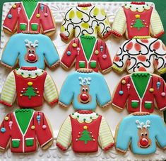 How to Decorate FOUR Ugly Sweater Cookies