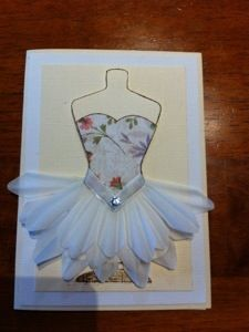 Ballerina card Kaszazz stamps
