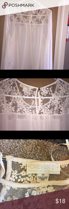 Sheer blouse Forever21 New without tags/ never worn   cream color blouse💄 Forever 21 Tops Blouses