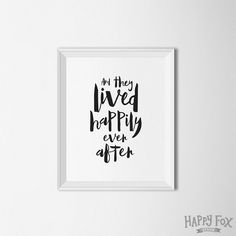 And they lived happily ever after Couples print by HappyFoxDesign