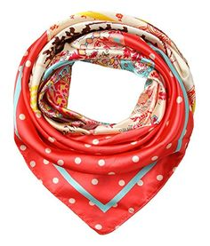 corciova Women's Satin Square Silk Feeling Hair Scarf 35 x 35 inches New Style Pink and Red Orange $9.99 Free Shipping @Amazon.com