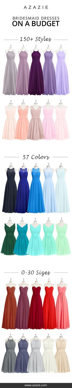 Azazie is the online destination for special occasion dresses. Our online boutique connects bridesmaids and brides with over 400 on-trend styles, where each is available in 50+ colors. 19w