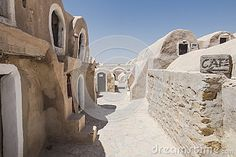 Old berbers village Hadada in south Tunisia , Africa. Place  shooting location for the movie Star Wars planet Tatooine.