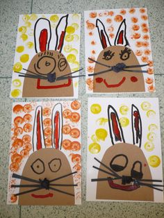 Best Picture For kindergarten art projects for kids For Your Taste You are looking for something, an Easter Projects, Easter Crafts For Kids, Projects For Kids, Kindergarten Art Projects, Easter Art, Bunny Crafts, Easter Activities, Art Classroom, Spring Crafts