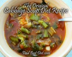 Cabbage Soup Diet Recipe - Lose 10 pounds in one week! #fastweightloss