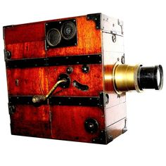 Alfred Darling Hand Crank Wood Cinema Camera, circa 1915, Ideal for Display | From a unique collection of antique and modern historical memorabilia at https://www.1stdibs.com/furniture/more-furniture-collectibles/historical-memorabilia/