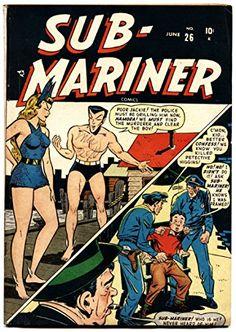 Sub-Mariner Comics Issue # 1 (Marvel Comics) Marvel Comic Books, Marvel Characters, Comic Books Art, Comic Art, Marvel Comics, Vintage Comic Books, Vintage Comics, Sub Mariner, Old Comics