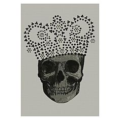 Get in touch with your gothic side with the grey-chic tones within the King Skull Modern Rug from Italtex.