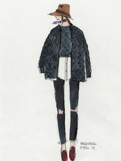 In love again! EXCLUSIVE: Madewell's Head Of Design Shares His Adorable Fall 2014 Sketches With Lucky : Lucky Magazine
