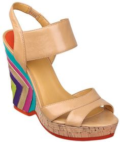 #NineWest                 #Women #Shoes             #open-toe #measurements #sandal #multi-colored #wedge #back #platform #upper #bright #round #design #leather                      TOOLIN                    Round open-toe platform wedge sandal with a bright multi-colored back design. Leather upper. Measurements: platform 1 and wedge 4.5.                        http://pin.seapai.com/NineWest/Women/Shoes/1058/buy