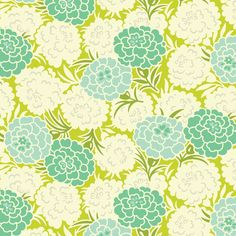 Toss maman Chartreuse (PWHB043) - Heather Bailey pied PARASOL - tissu Free Spirit - By the Yard par MoonaFabrics sur Etsy https://www.etsy.com/fr/listing/191942005/toss-maman-chartreuse-pwhb043-heather