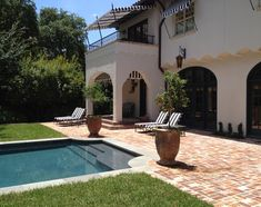Grecian shape of pool  Mediterranean Revival - Baldridge Landscape | Baldridge Landscape