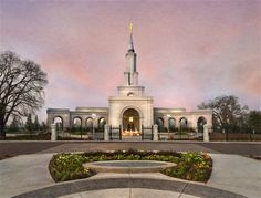 Sacramento California Temple by Robert Boyd