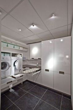 Practical Home laundry room design ideas 2018 Laundry room decor Small laundry room ideas Laundry room makeover Laundry room cabinets Laundry room shelves Laundry closet ideas Pedestals Stairs Shape Renters Boiler Room Design, House, Laundry Mud Room, Basement Laundry Room, Home, Laundry Room Design, House Interior, Laundy Room, White Rooms