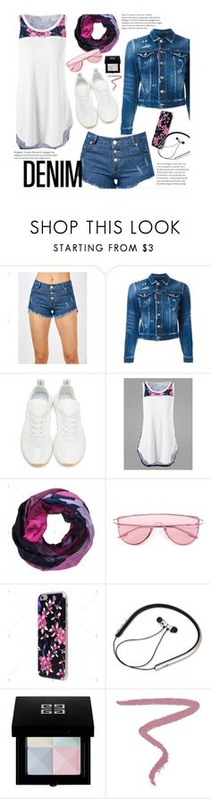 """Untitled #3239"" by beebeely-look ❤ liked on Polyvore featuring Dsquared2, adidas Originals, Givenchy and Hourglass Cosmetics"