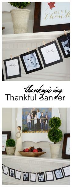 Thanksgiving | Print then cut this Thanksgiving Thankful Banner. A great way to add some Thanksgiving Decor and add meaning to your holiday. MichaelsMakers  The Idea Room