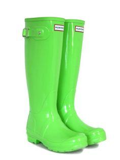 Hunter Neon Green Boots by Bevjwilson2005, via Flickr