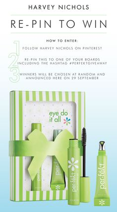 Pin It To Win It! Re-pin this for the chance to win an 'eye do it all' set from Per-fekt #perfektgiveaway. Terms apply: http://www.harveynichols.com/hnedit/uncategorized/per-fekt-giveaway-on-pinterest/