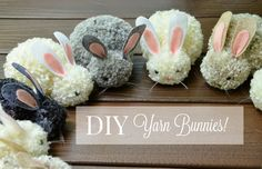 Pom-pom making is infinitely satisfying, and how cute are these bunnies? Pom-pom making is infinitely satisfying, and how cute are these bunnies? Cute Crafts, Crafts To Make, Crafts For Kids, Party Crafts, Kids Diy, Preschool Crafts, Diy Crafts, Easter Projects, Easter Crafts