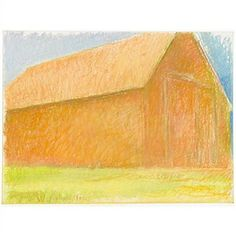 Sun Drenched Barn by Wolf Kahn 1982