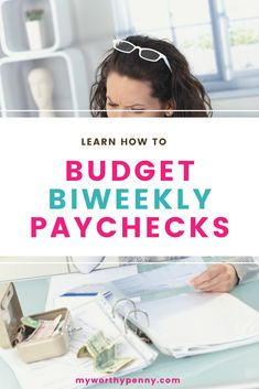 Confused on how to budget biweekly paycheck? Here is an easy to follow budgeting guide that you can use for your biweekly budgeting. Monthly Budget Template, Budgeting Worksheets, Living On A Budget, Business Money, Budgeting Finances, Financial Goals, Money Matters, Money Management, Money Saving Tips