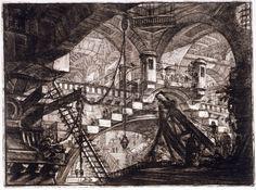 """Another of Giovanni Battista Piranesi's """"Carceri"""" (Prisons) series. #architecture #prints"""