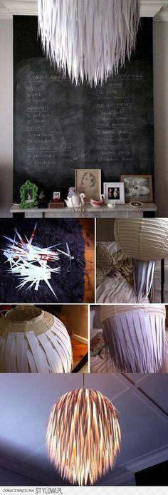 Die Lampen wären eine Idee für Allraum oder Kinderzimmer. Sie haben Ähnlichkeit mit den DIY-Schnur-Leuchten in meinen DIY-Pins.