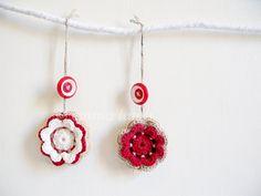 Scandinavian style Christmas decorations two crochet by emmalamb