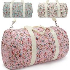 Womens Handbags Flower Pattern Weekender Bag Duffel Bag Gym Bag Cross Body Bag