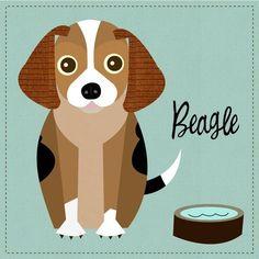 Beagle print by JennSki on Etsy, $23.00