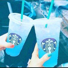 starbucks, blue, and drink resmi #Starbuckssecretmenu