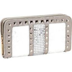 Nicole Lee Joanne Metallic Geometric Wallet (Silver) - Sale: $23.64